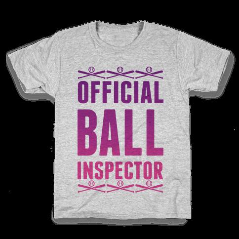 Official Ball Inspector Kids T-Shirt