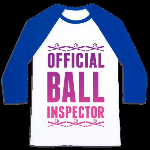 Official Ball Inspector Baseball Tee
