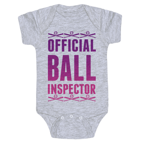 Official Ball Inspector Baby Onesy