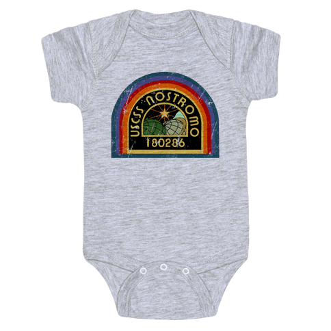 Nostromo Distressed Baby Onesy