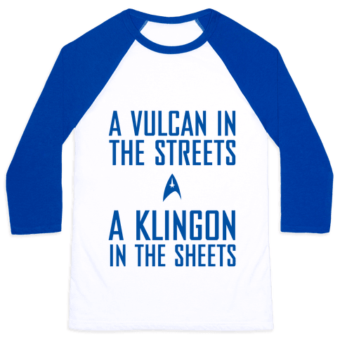 A Vulcan In The Streets Baseball Tee