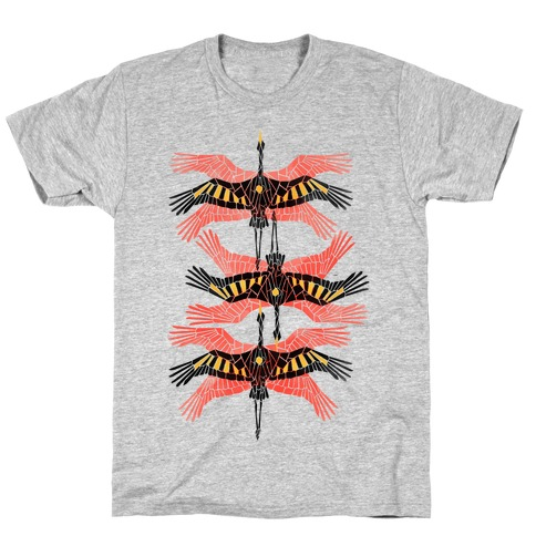 Geometric Deco Flying Cranes T-Shirt