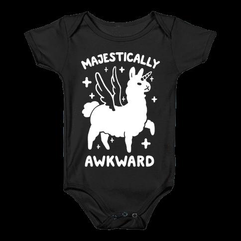 Majestically Awkward Llamicorn Baby Onesy