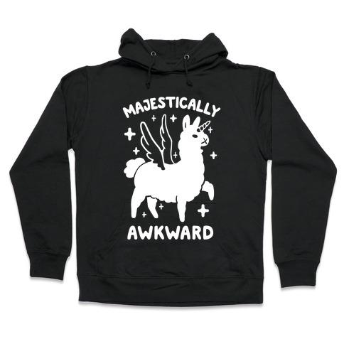 Majestically Awkward Llamicorn Hooded Sweatshirt