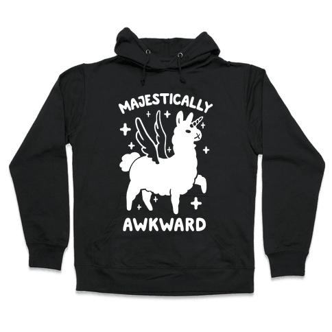 Majestically Awkward Llamicorn Hooded Sweatshirt