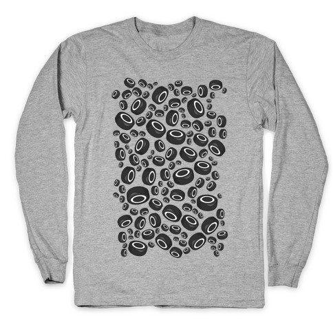 Hockey Pucks Pattern Long Sleeve T-Shirt