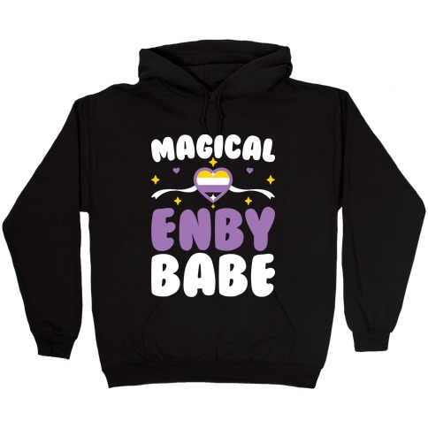 Magical Enby Babe Hooded Sweatshirt