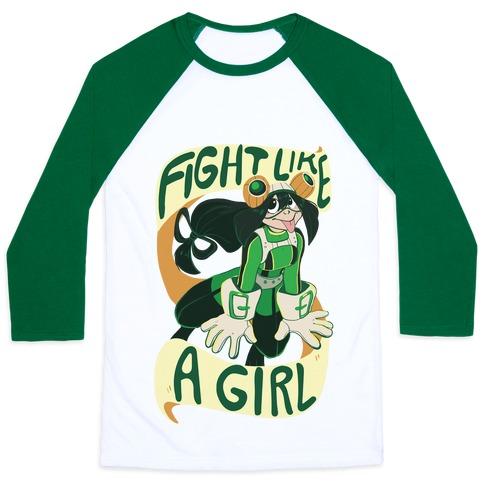 Fight Like A Girl Baseball Tee