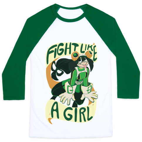 Fight Like A Girl Baseball Tee