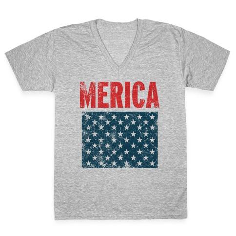 Merica V-Neck Tee Shirt