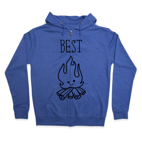 Best Friends Campfire 1 Zip Hoodie
