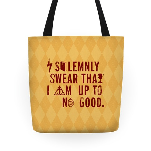 I Solemnly Swear I Am Up to No Good (Gold) Tote