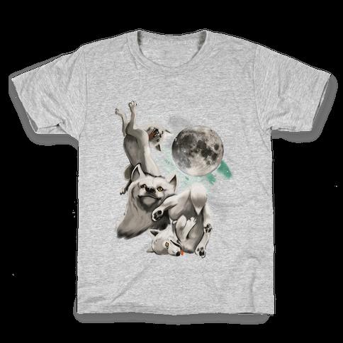Three Wolf Moon Moon (Juniors) Kids T-Shirt