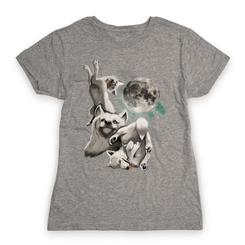 Three Wolf Moon Moon (Juniors) Womens T-Shirt