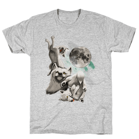 Three Wolf Moon Moon (Juniors) Mens T-Shirt