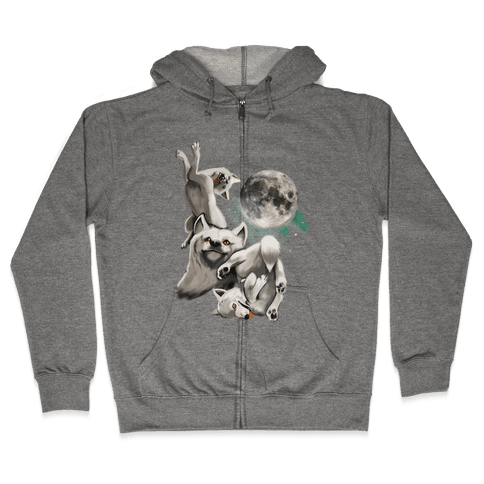 Three Wolf Moon Moon (Juniors) Zip Hoodie