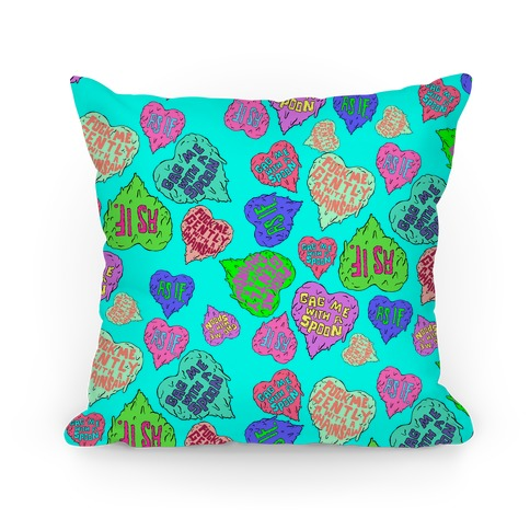 Gross Hearts Pillow