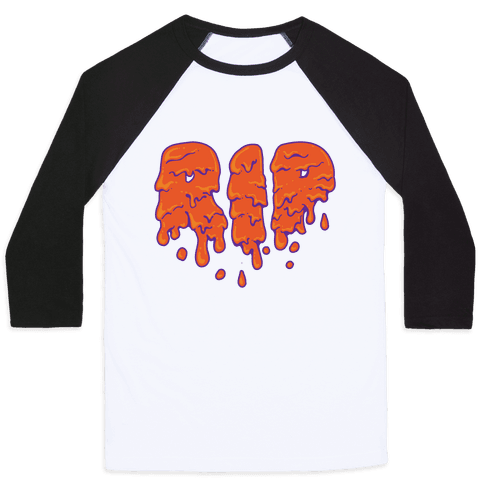 RIP Orange Slime Baseball Tee