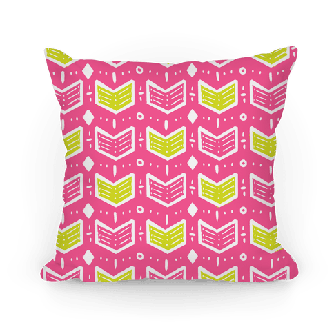 Pink and Green Tribal Doodle Pattern