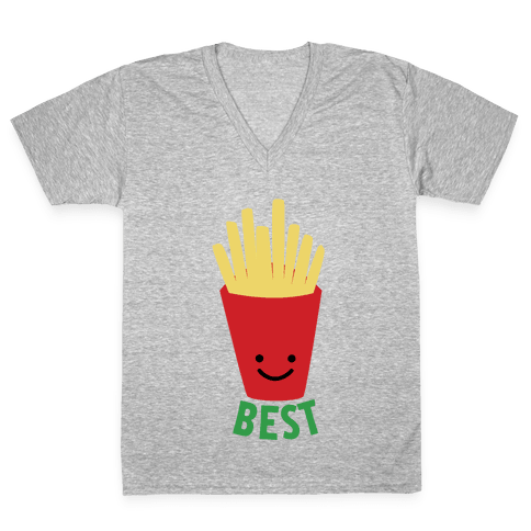 Best Fries V-Neck Tee Shirt