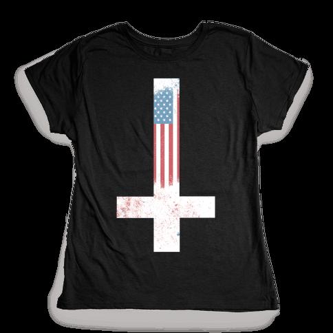 Satanic America Womens T-Shirt