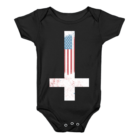 Satanic America Baby Onesy