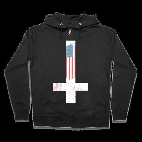 Satanic America Zip Hoodie