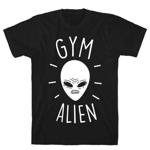 Gym Alien Mens T-Shirt