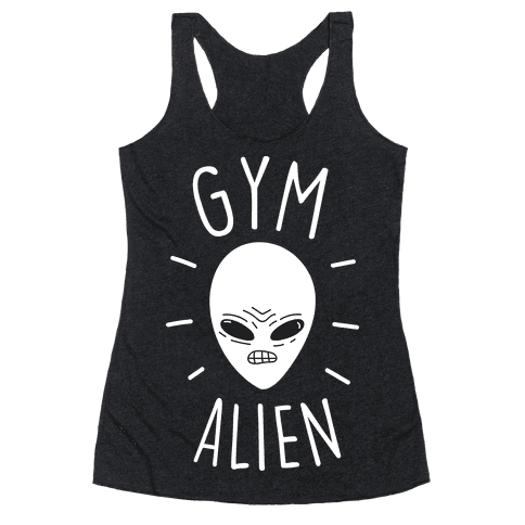 Gym Alien Racerback Tank Top