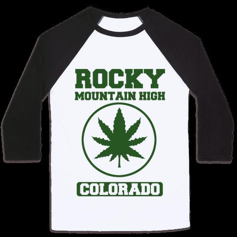 Rocky Mountain High Colorado Baseball Tee