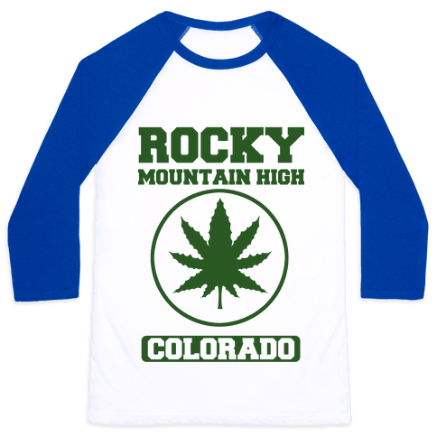 Rocky Mountain High Colorado Baseball Tee