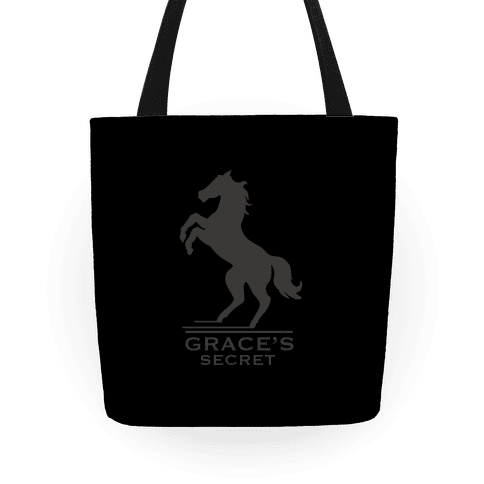 Grace's Secret Faux Fashion Logo Tote