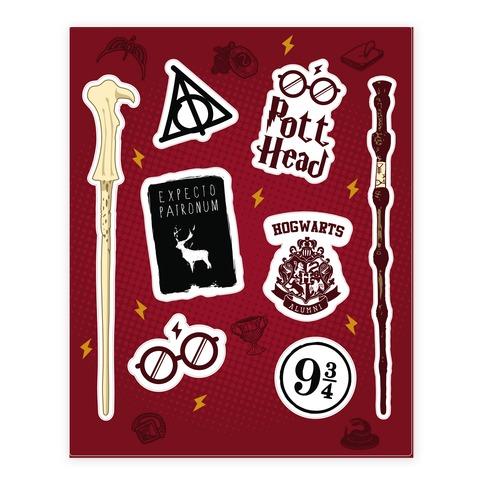 Potter Head Sticker/Decal Sheet