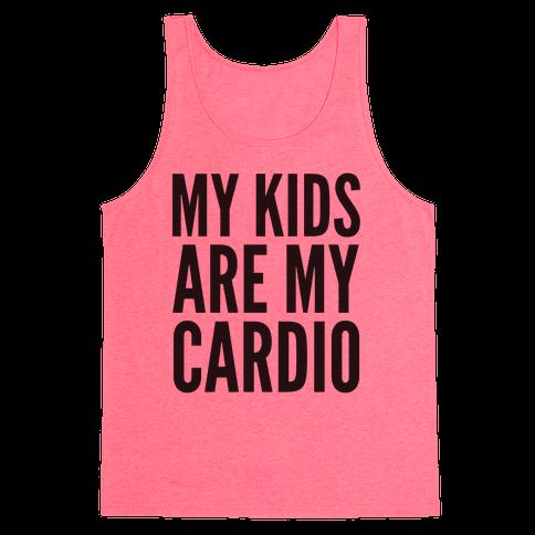 My Kids Are My Cardio Tank Top