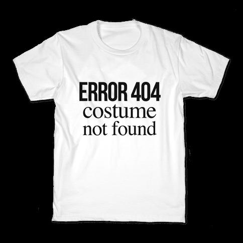 Error 404 Costume Kids T-Shirt