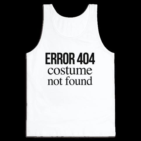 Error 404 Costume Tank Top