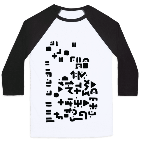Alien Writing Baseball Tee