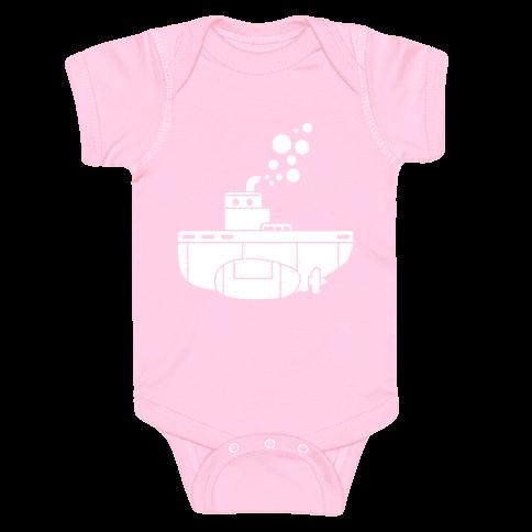 Nautical Submarine Baby Onesy