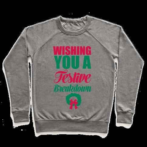 Wishing You A Festive Breakdown Pullover