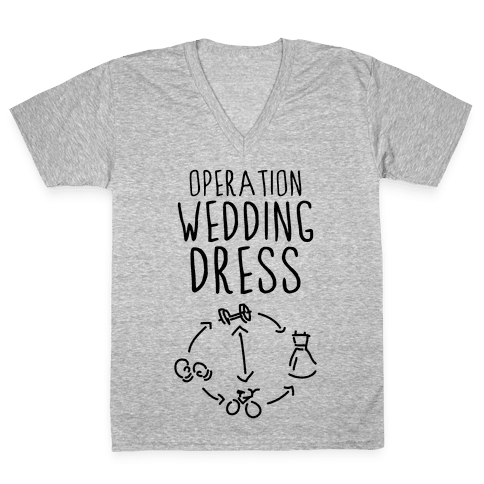 Operation Wedding Dress (Tank) V-Neck Tee Shirt