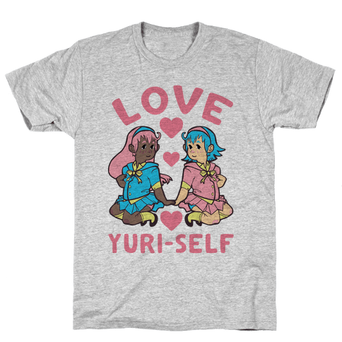 Love Yuri-Self Mens T-Shirt