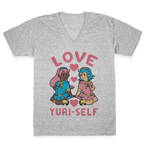 Love Yuri-Self V-Neck Tee Shirt