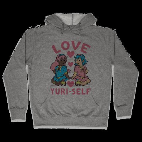 Love Yuri-Self Hooded Sweatshirt
