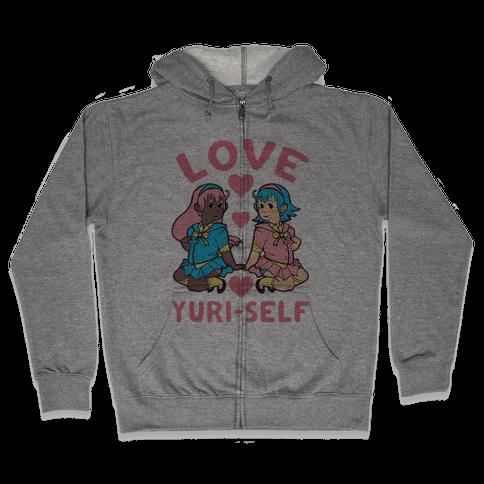 Love Yuri-Self Zip Hoodie