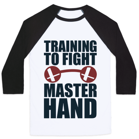 Training To Fight Master Hand Baseball Tee