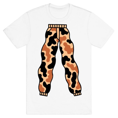 Camo Pants Mens T-Shirt