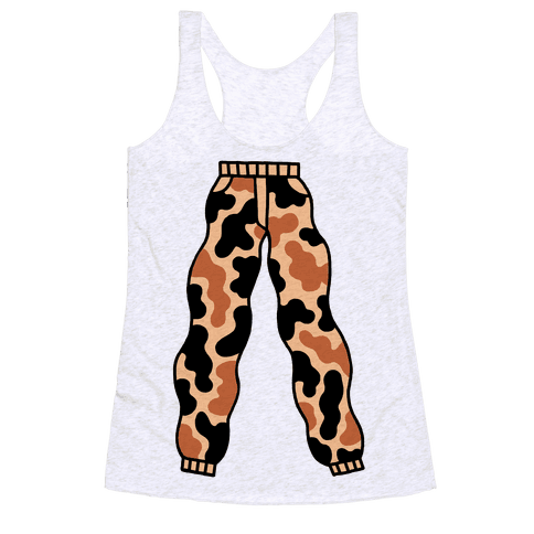 Camo Pants Racerback Tank Top
