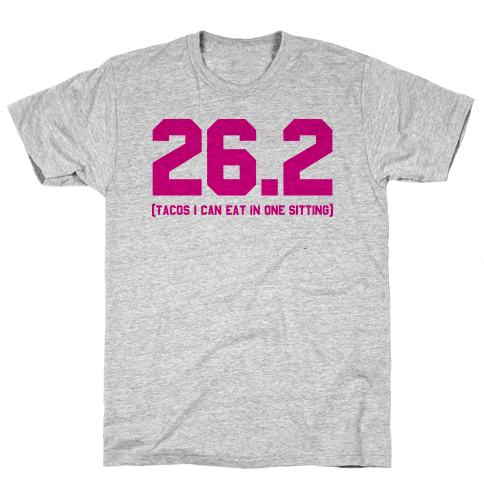 26.2 Tacos In One Sitting Mens T-Shirt