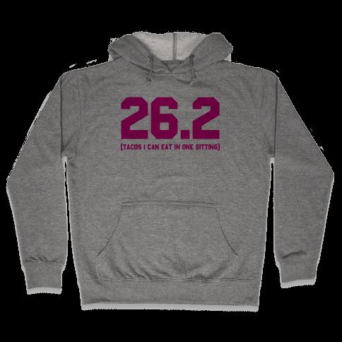 26.2 Tacos In One Sitting Hooded Sweatshirt