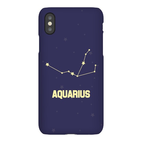Aquarius Horoscope Sign Phone Case